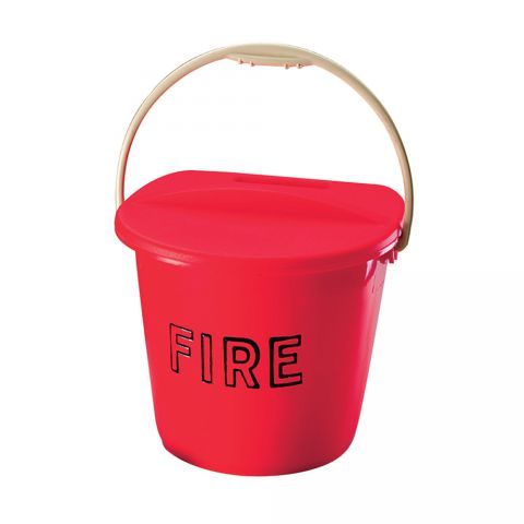 Plastic Two Gallon D Shaped Fire Bucket 3745/01
