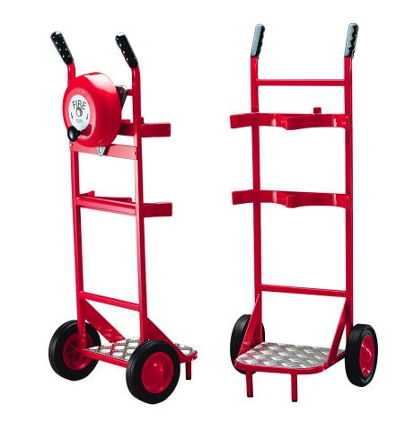 Double Fire Extinguisher Trolley With Rotary Alarm Hand Bell 46/57815