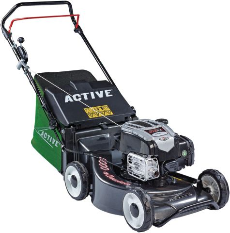 Active 50cm (19 Inch Cut) Briggs & Stratton Engine Push Alloy Deck Mower ACT5000B