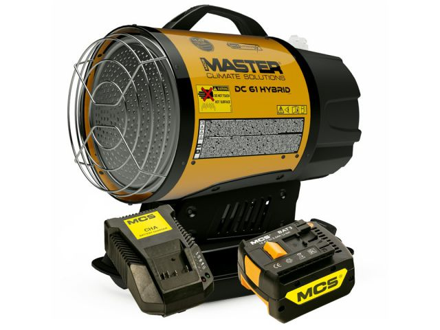 Master Dual Voltage Infrared Battery Oil Heater DC61