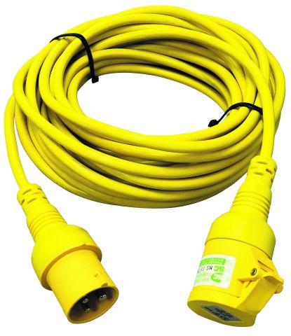 Elite 110 Volt 14 Metre Moulded Plug Extension Lead EXL14M