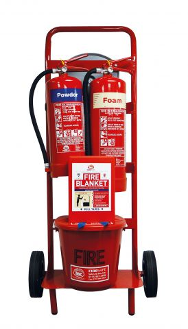 Mobile Fire Point Trolley Foam & Dry Powder Extinguishers FPT1