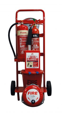 Mobile Fire Point Trolley Foam & CO2 Extinguishers FPT3