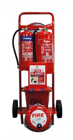 Mobile Fire Point Trolley Dry Powder & Water Extinguishers FPT6