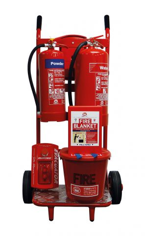 Mobile Fire Point Trolley Dry Powder & Water Extinguishers FPT6H