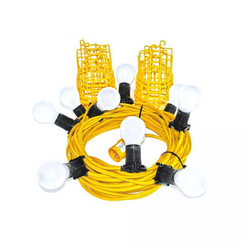 Elite 110 Volt GLS 22 Metre Festoon Kit With Edison Screw Fitting FSESKIT