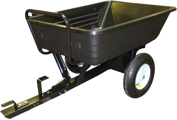 Garden Pride 227kg Capacity Poly Push Or Tow Trailer Dump Cart GP227PTT