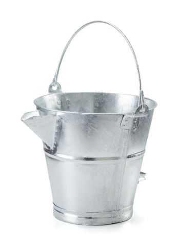 Galvanised V Lipped Tar Bucket GVLB