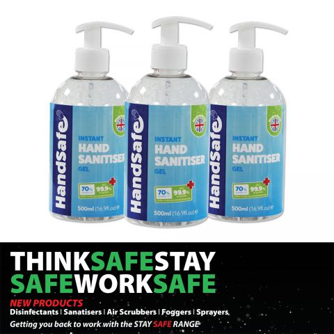 Handsafe 500ml Gel Hand Sanitiser 70% Alcohol HSG500ML