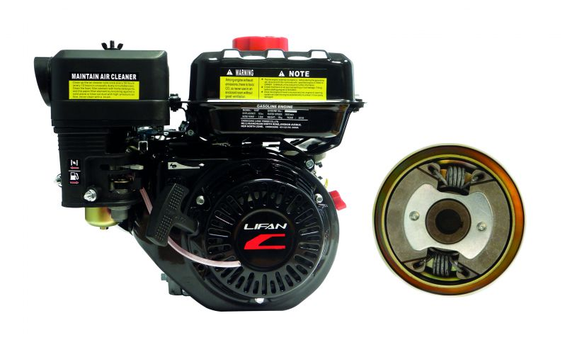 Lifan Premium 196cc (6.5hp) Horizontal Crank Engine With Noram Centrifugal Clutch