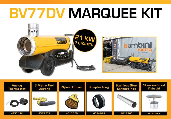 Master BV77DV Marquee Kit With 3 Metre Ducting & Accessories BV77MKP1
