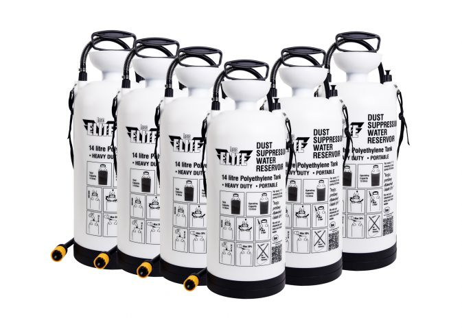 Elite 14 litre Dust Suppression Water Bottle x 6 MGSDSX6