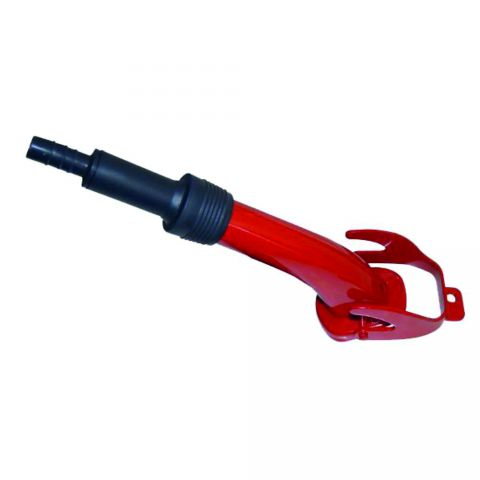 Rigid Red Metal Fuel Can Spout MPMD486