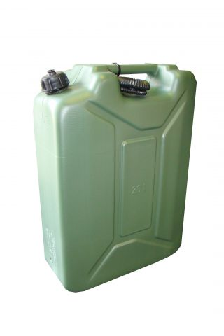 20 Litre Green Plastic Army Style Fuel Can MPMD4911