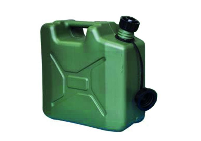 10 Litre Green Plastic Army Style Fuel Can MPMD5064