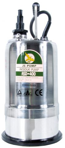 JS Pump 110 Volt 15 - 30mm Stepped Outlets Residue Pump RSD400